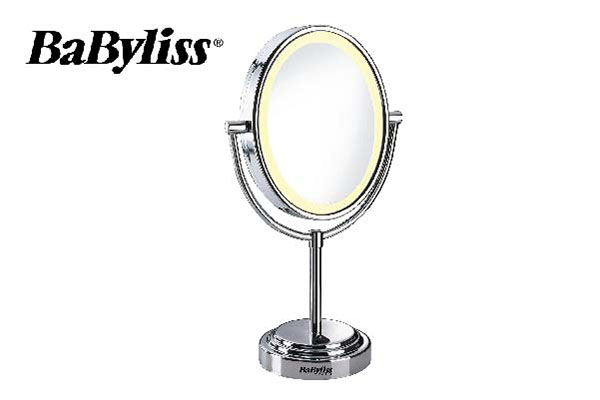 Babyliss double sided lighting mirror, D 22 cm