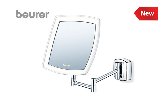 Beurer illuminated cosmetics mirror with led light