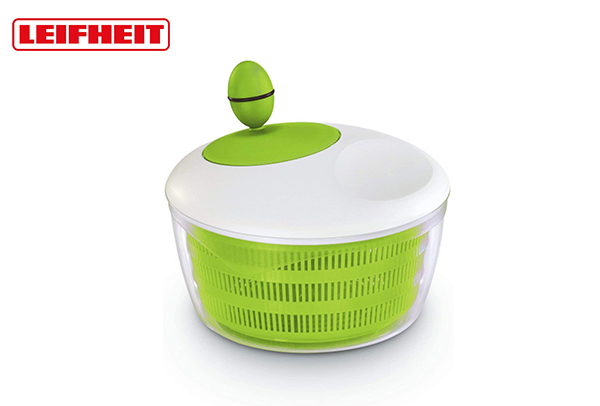 Leifheiit salad spinner for unique drying mechanism