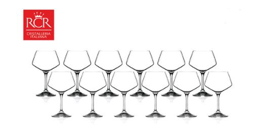 Crystal RCR 12pcs white wine glasses