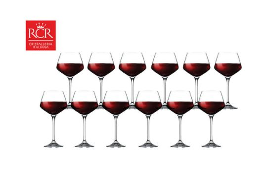 Crystal RCR 12pcs red wine glasses