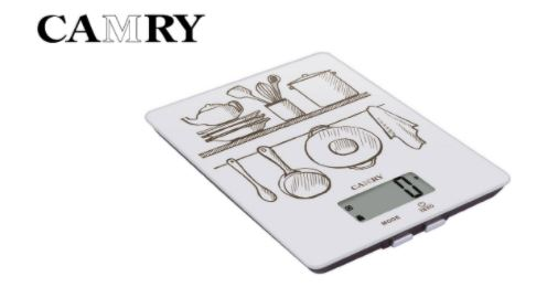 Camry electronic kitchen scale, measures volume of water & milk, 5kg