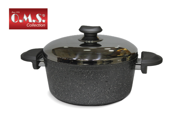 OMS stewpot granite with cover, size 22cm