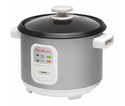 Moulinex rice cooker, 10 cups, silver, mod:MK111E00